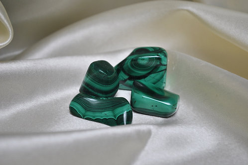 Malachite pocket stones