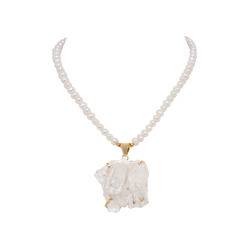 Pearl Galet Necklace