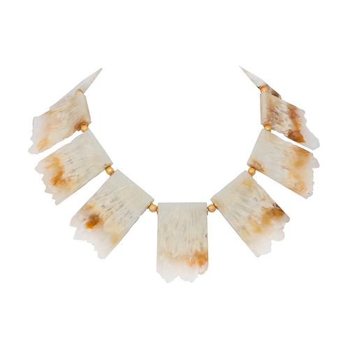 Quartz Galet Necklace - Fan