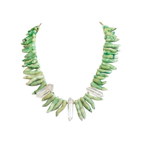 Coral Quartz Necklace