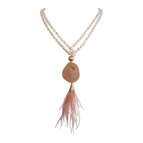 Dalle Necklace - Pearls