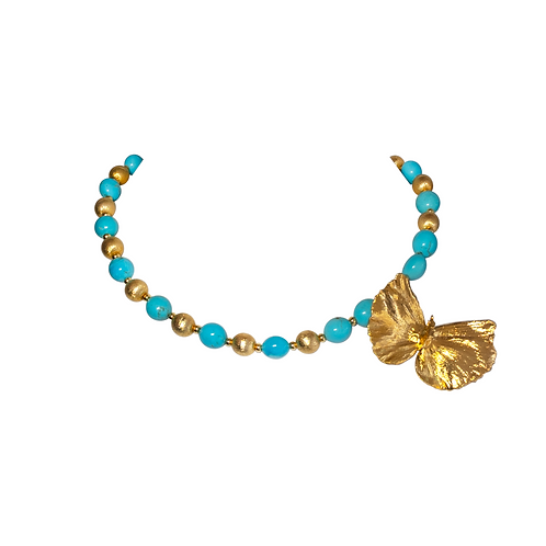Papillon Necklace - Turquoise