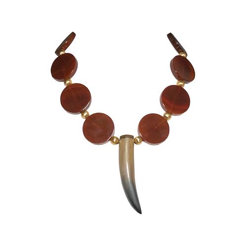Piece Corne Carnelian Necklace