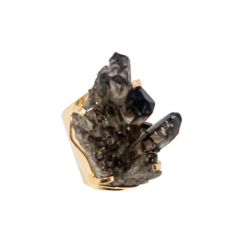 Galet Ring - Smokey Quartz