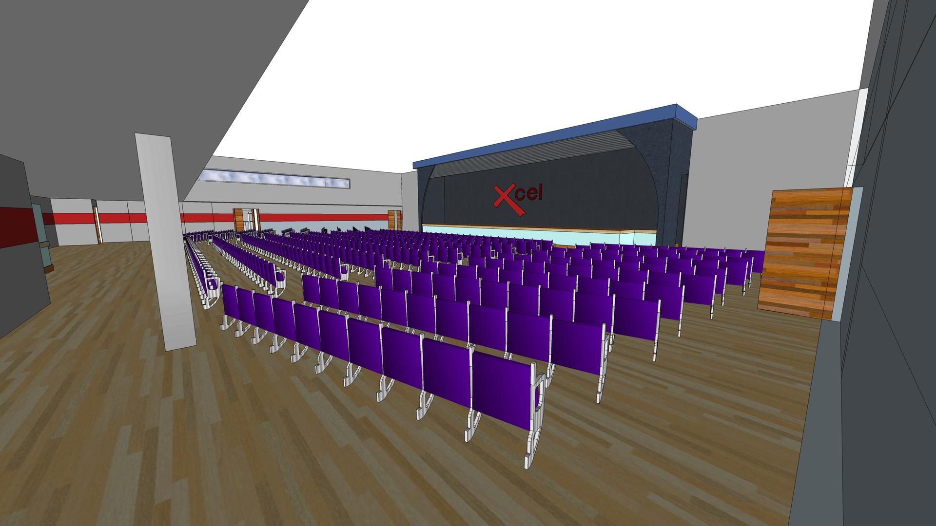 Xcel Centre main Auditorium