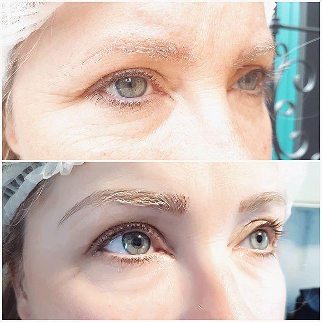 Brow reno for the sis!__#xcessoreyes #permanentmakeup #nanaimobeauty #microbladed #nanaimobrows #yeg #eyebrowtattoo_#browsonpoint #microb