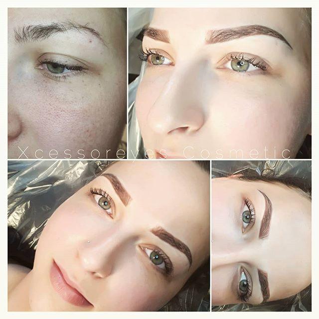 OMBRE FRIDAY!_#xcessoreyes  #permanentmakeup #nanaimobeauty #microbladed #nanaimobrows #yeg #eyebrowtattoo_#browsonpoint #microbladed #bro