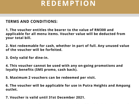 Gift Voucher Terms & Conditions