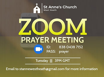 Copy of Zoom prayer meeting flyer - Made