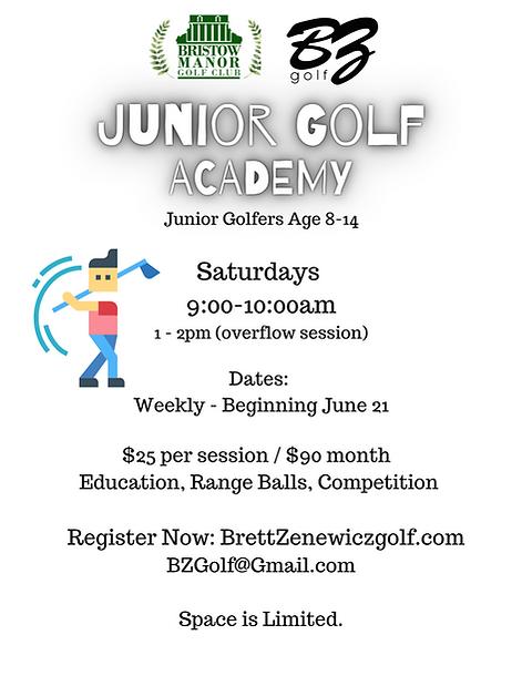 Junior Golfers Age 6-17 Format 9 Hole -