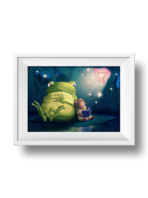Mia & Frogbert Reading A Night Time Story