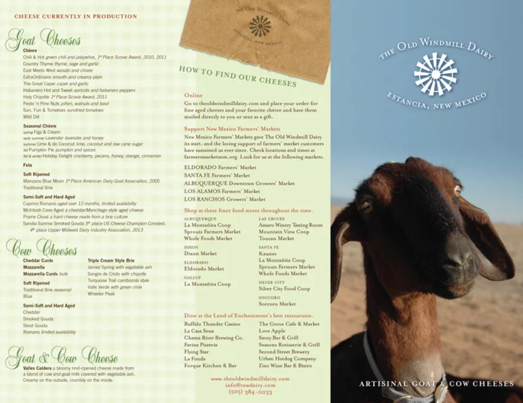 wolfewrites | Old Windmill Dairy Brochure