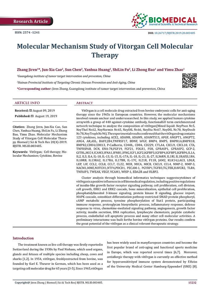 1 vitOrgan Cell Molecular Therapy Dr Dav