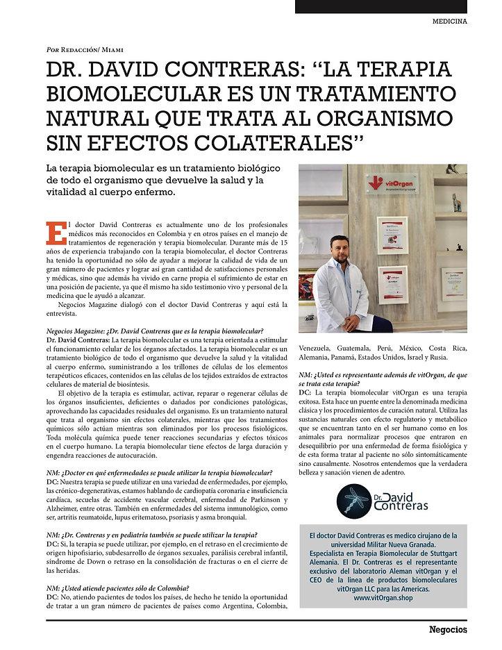 Dr. David Contreras Biomolecular Revista