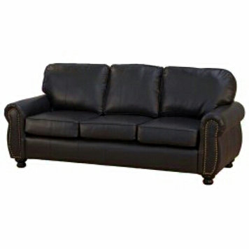 Ruby leather couch