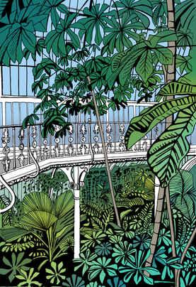 Kew Gardens Palm House Walkway