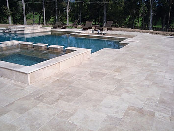Sinai pearl French pattern tumbled pool.