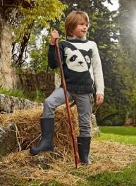 barisienne pull panda enfant