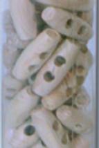 Bouton bûchette en bois naturel