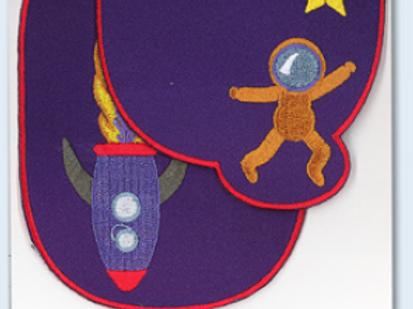 "Renforts fantaisies ""Cosmonaute et fusée"""