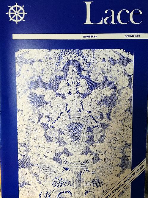 """Revue """"Lace"""" n°58 du Printemps 1990"""