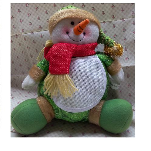Bonhomme de neige à broder