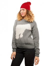 pull jacquard col rond dame