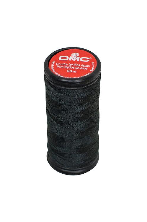 Fil à coudre Textiles épais - 30 mètres - Noir