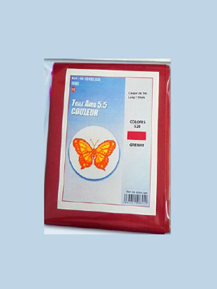 Toile Aïda 5.5 de couleur - Coupon de 1 mètre