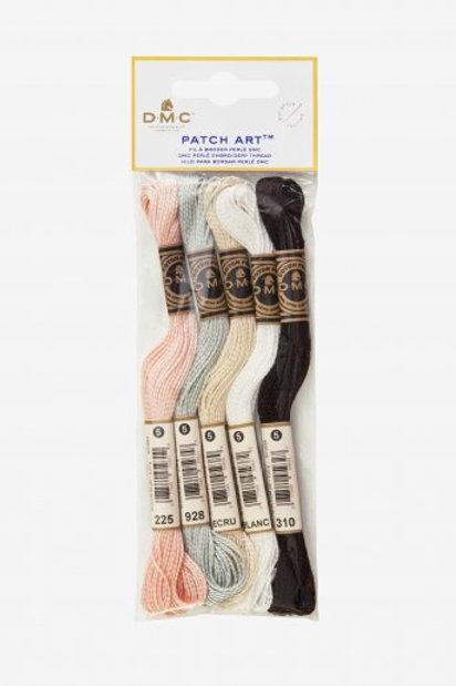 PATCH ART - Lot de 5 échevettes de fil perlé