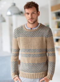 pull jacquard col rond
