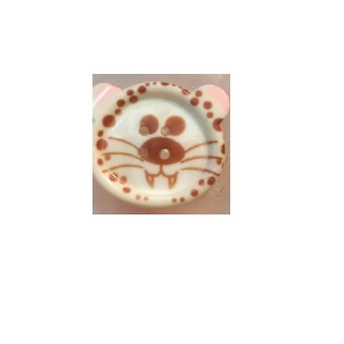 """Bouton enfant """"tête de léopard"""""""