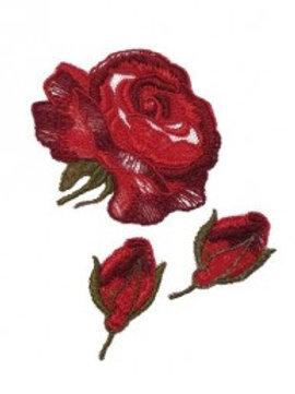 Lot de 3 roses brodées de Bergère de France