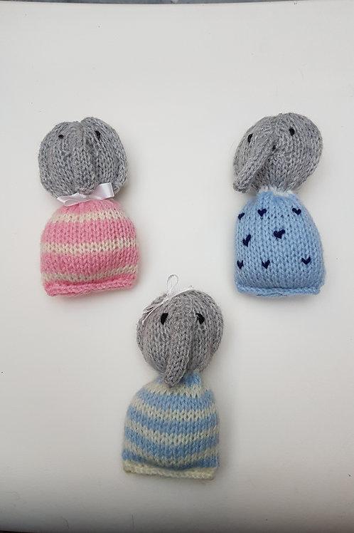 Doudous Eléphant en tricot