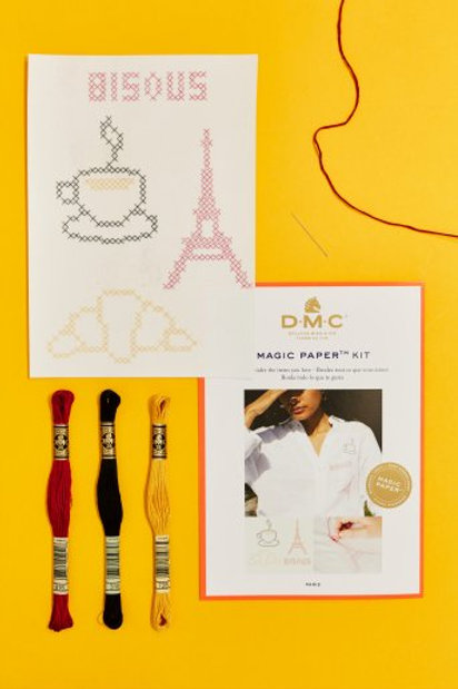 "Magic Paper (feuille soluble) DMC - kit ""Paris"""