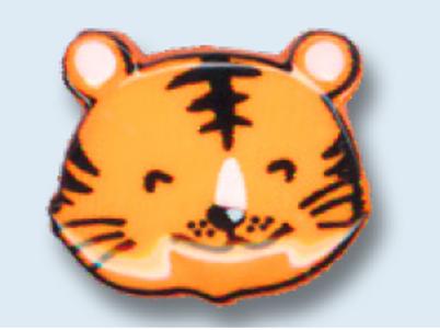 """Bouton enfant """"tête de tigre"""" - 19 mm"""