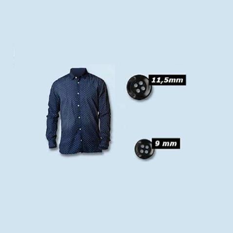 Bouton de chemise - 9 et 11,5 mm