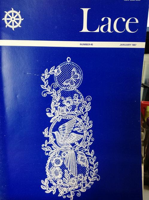 """Revue """"Lace"""" n°45 de Janvier 1987"""