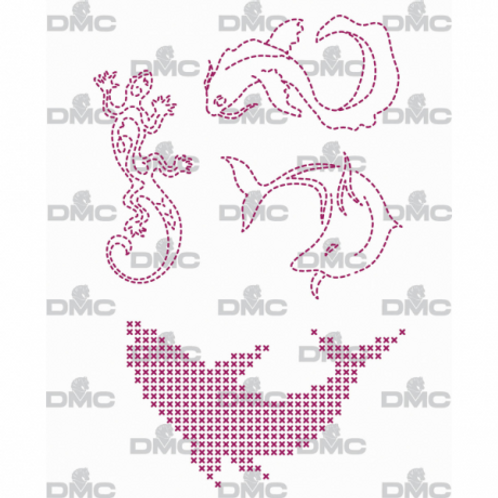 """Custom By Me feuille magique """"Animals Dauphins"""""""
