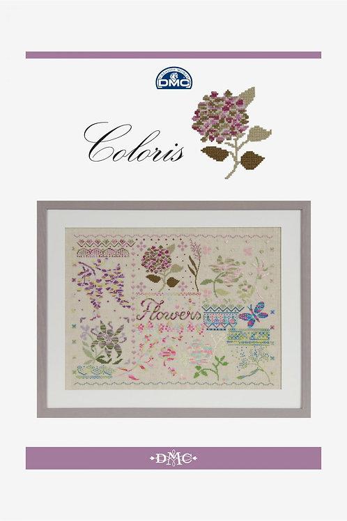 """Livret """"Flowers"""" en fils Coloris"""