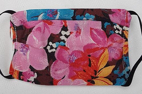 """Masque de protection """"fleurs Hawaï"""""""
