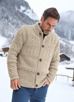 gilet col montant homme
