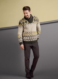 pull_jacquard_col_châle_homme