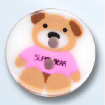 bouton rond avec ourson - 18 mm