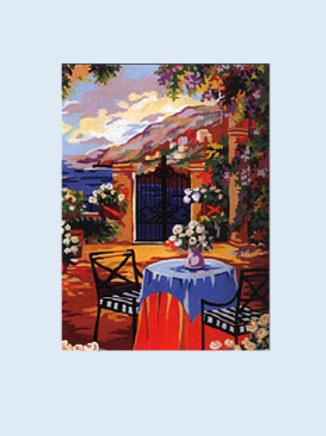 "Kit de tapisserie ""La Terrasse"""