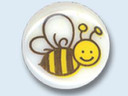 """Bouton enfant rond avec """"abeille"""""""