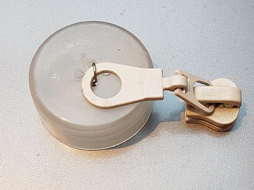 Curseur maille 4 pour fermeture métal BLANC