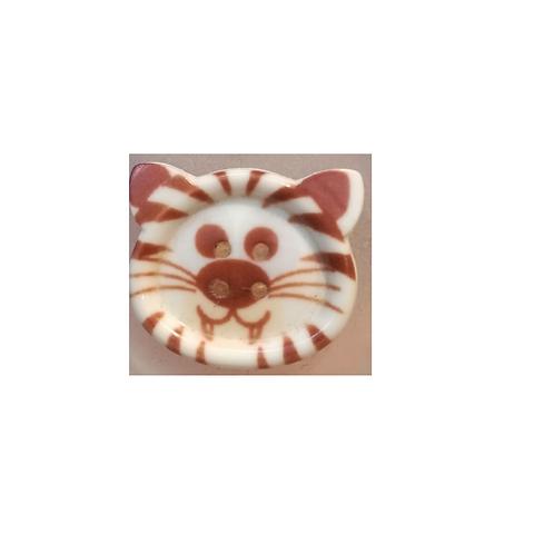 """Bouton enfant """"tête de tigre"""""""