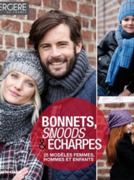 """""""Bonnets, snoods et écharpes"""" Ed. Marie-Claire"""