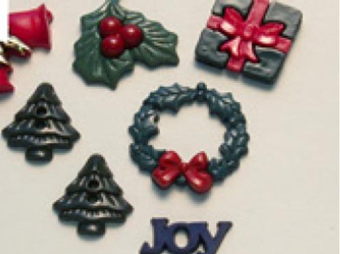 """Sachet de boutons assortis """"Noël"""""""